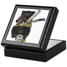 Treasure Chest Map Dagger Keepsake Box