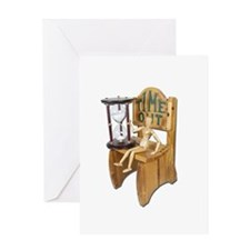 Sitting Timeout Chair Hour Glass Greeting Card