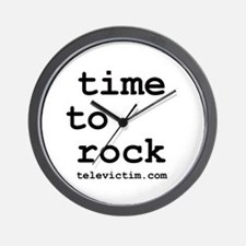 """time to rock"" Wall Clock"
