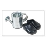 Watering Can Clogs Sticker (Rectangle 10 pk)