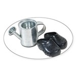 Watering Can Clogs Sticker (Oval 50 pk)