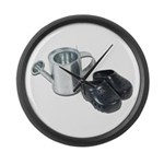 Watering Can Clogs Large Wall Clock