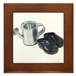Watering Can Clogs Framed Tile