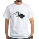 Watering Can Clogs White T-Shirt