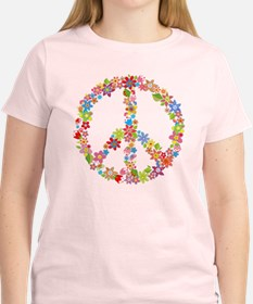 Pink Peace Sign T-Shirt (more Colors Avail)