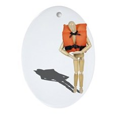 Wearing Life Preserver Ornament (Oval)