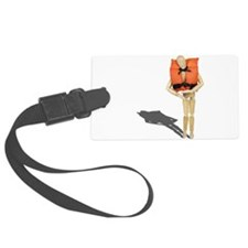 Wearing Life Preserver Luggage Tag