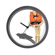 Wearing Life Preserver Wall Clock
