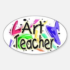 """""""Art Teacher Color"""" Oval Decal"""