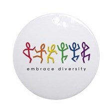 gay pride dance Ornament (Round)