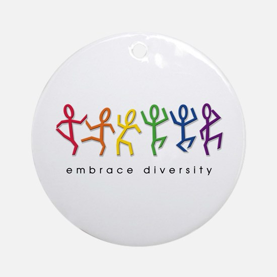 gay pride dance Ornament (Round)