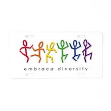 gay pride dance Aluminum License Plate