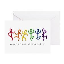 gay pride dance Greeting Card