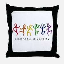 gay pride dance Throw Pillow