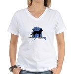 Rescue Logo Women's V-Neck T-Shirt
