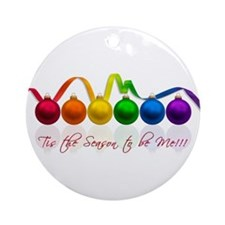 gay pride ornaments Ornament (Round)