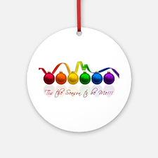 gay pride ornaments Ornament (Round)