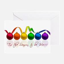 gay pride ornaments Greeting Card