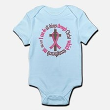Phil 4:13 Breast Cancer Infant Bodysuit