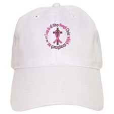 Phil 4:13 Breast Cancer Baseball Cap