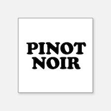 "Pinot Noir Square Sticker 3"" x 3"""