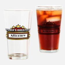 World's Greatest Attorney Drinking Glass