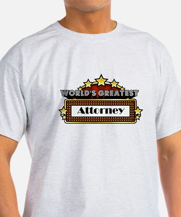 World's Greatest Attorney T-Shirt