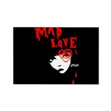 Mad Love Rectangle Magnet