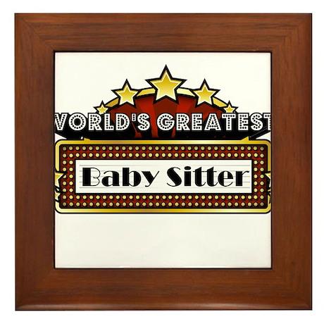 World's Greatest Baby Sitter Framed Tile