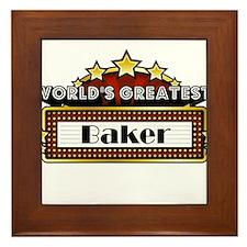 World's Greatest Baker Framed Tile