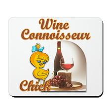 Wine Connoisseur Chick Mousepad
