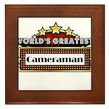 World's Greatest Cameraman Framed Tile