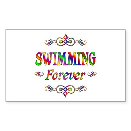 Swimming Forever Sticker (Rectangle)