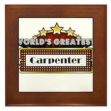 World's Greatest Carpenter Framed Tile