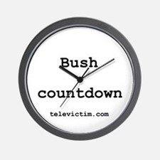 """Bush countdown"" Wall Clock"