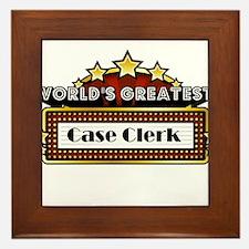 World's Greatest Case Clerk Framed Tile