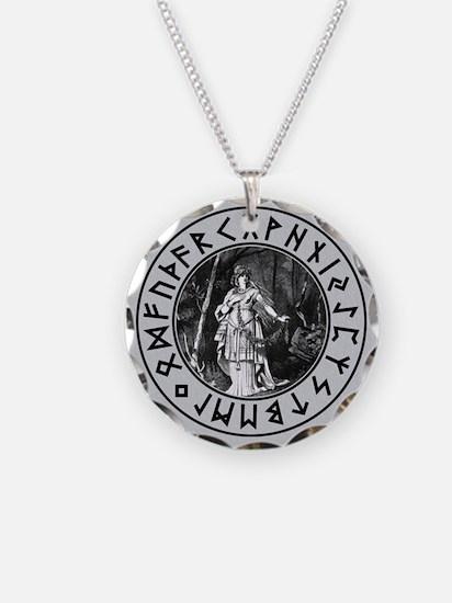 Freya Rune Shield Necklace