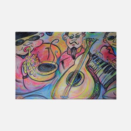 Band, music, art! Rectangle Magnet