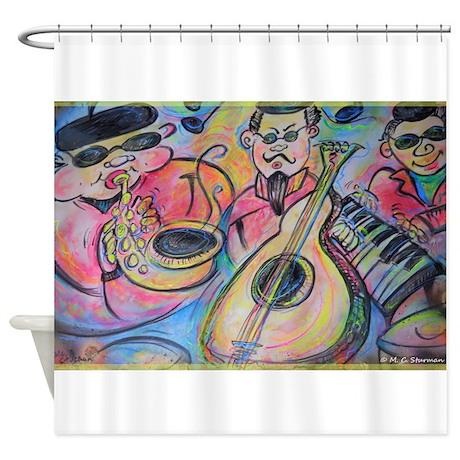 Band, music, art! Shower Curtain