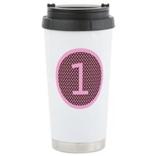 Pink and Brown First Birthday ONE Travel Mug
