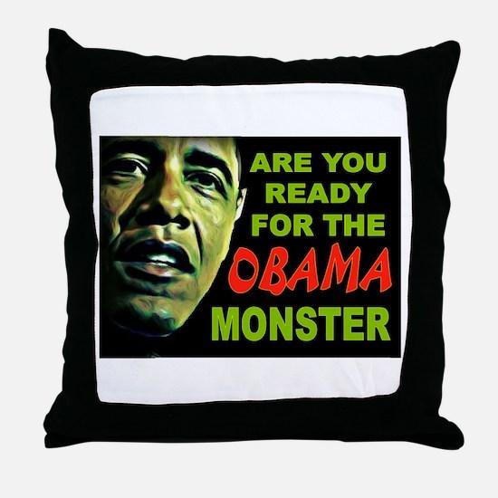 OBAMA MONSTER Throw Pillow
