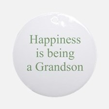 Happiness is being a Grandson Ornament (Round)