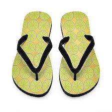 Lime Slices Flip Flops