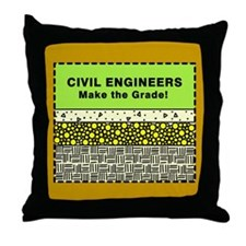 Civil Engineers Throw Pillow