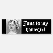 Jane Austen homegirl bumper sticker