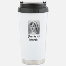 Jane Austen homegirl Stainless Steel Travel Mug