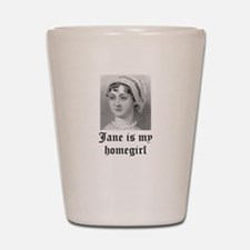Jane Austen homegirl Shot Glass