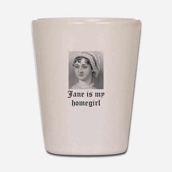 Jane Austen homegirl Shot Glass