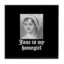 Jane Austen homegirl Tile Coaster