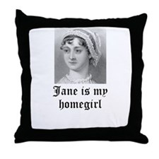 Jane Austen homegirl Throw Pillow